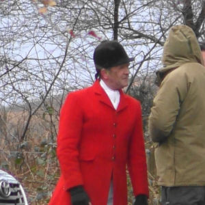 Pink hunting jacket – used before and during the meet