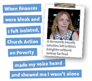 When finances were bleak, Church Action on Poverty made my voice heard