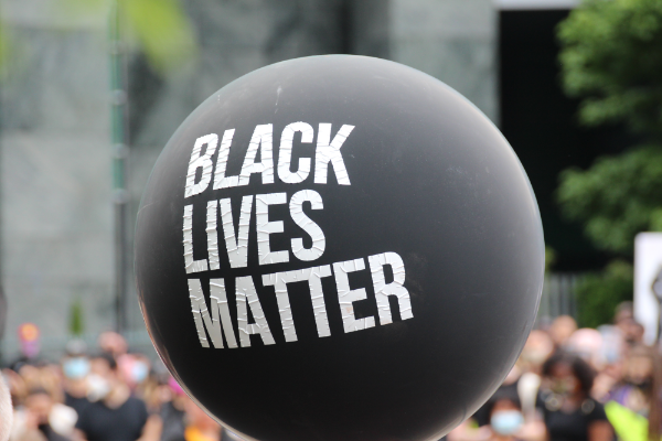 Photo: balloon with Black Lives Matter