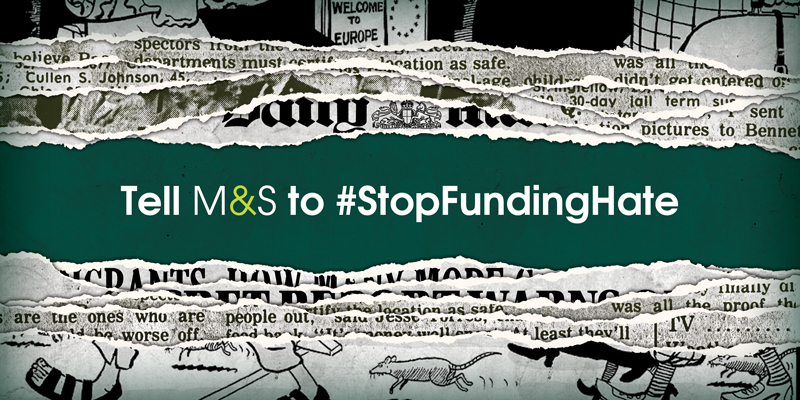 M&S stop funding hate