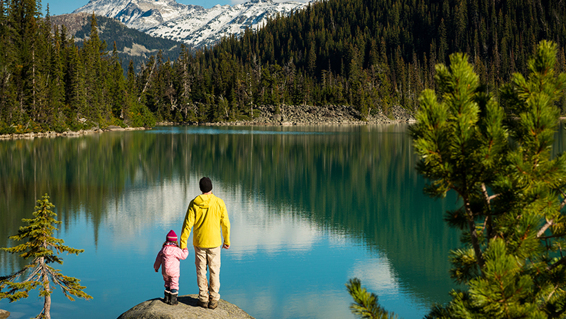 Father and Daughter Mountains, iStock Stockstudio X