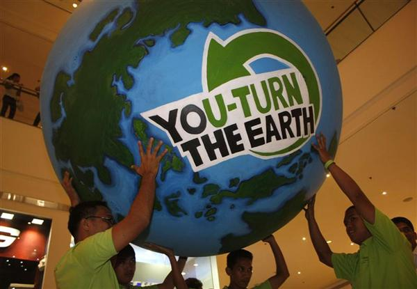 You turn the Earth!