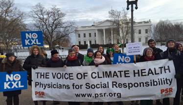 PSR staff protesting KXL at the White House