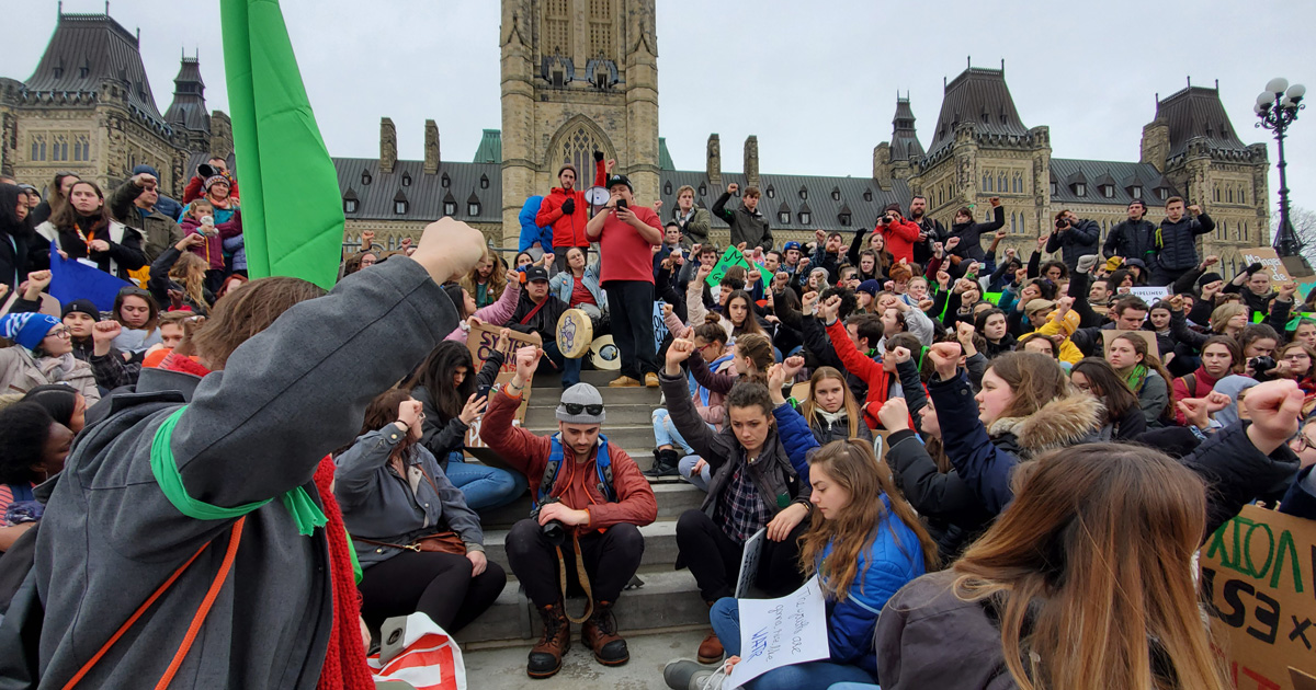 Climate rally on Parliament Hill