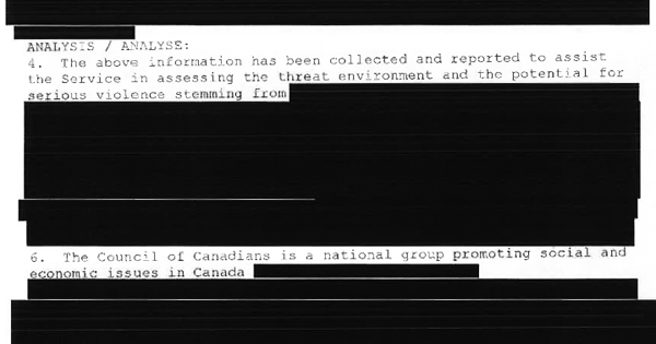 Redacted report