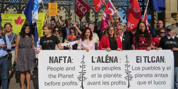 Canada should be open to making the new NAFTA deal better for people, not for corporations.