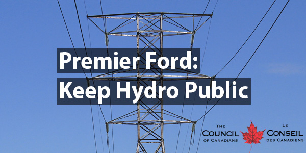 Premier Ford: Keep Hydro Public