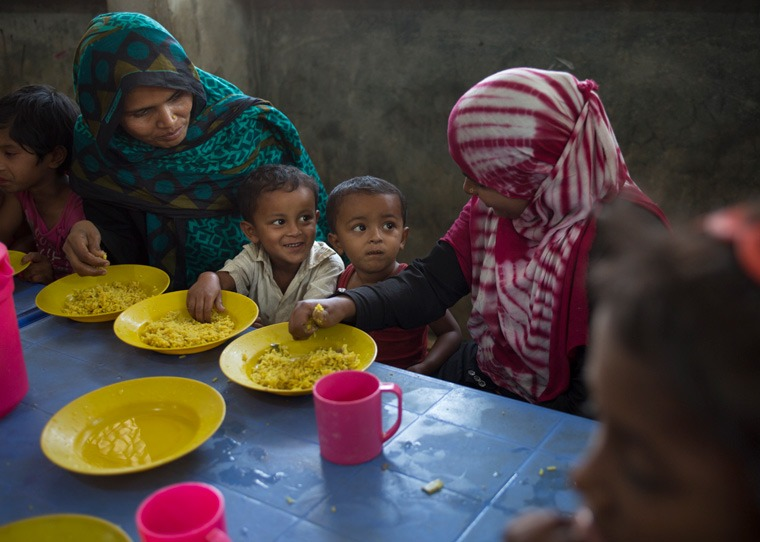 £7 can provide a month's worth of food for one child