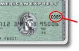 The CVV2 is shown as 4 digits on the front of the card.
