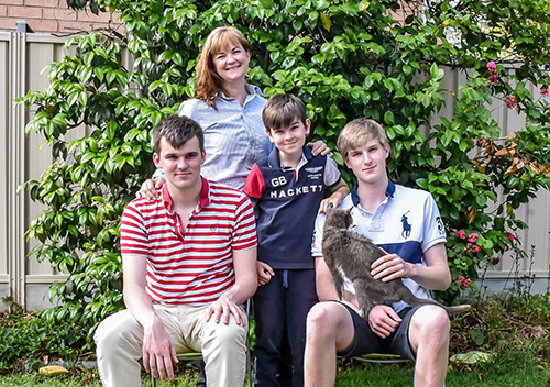 Christina and her three sons - private health insurance case study