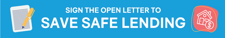 Sign the open letter to save safe lending.