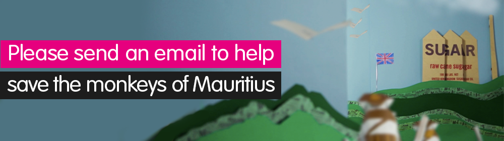 Send a message to help make Mauritius a paradise for monkeys