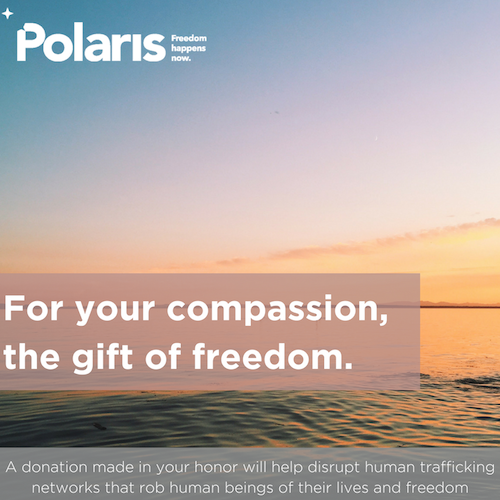 For your compassion the gift of freedom