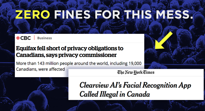 Zero fines for privacy violations in Canada?