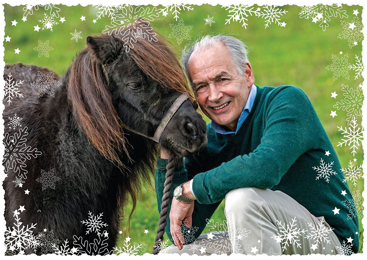 Alastair Stewart next to a pony