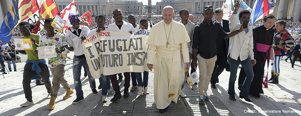 The Pope meets refugees