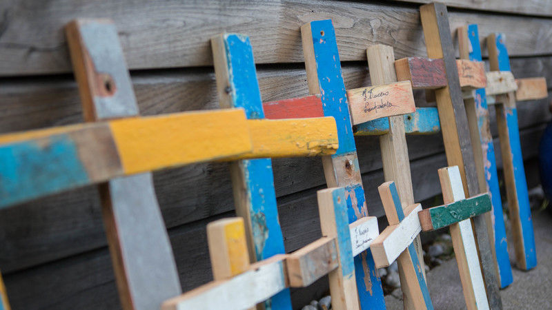 Lampedusa crosses at CAFOD